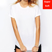 Lyprerazy Women Short Sleeve cotton Modal Flexible T-shirt white color Size S-XXL Summer Super soft T shirts