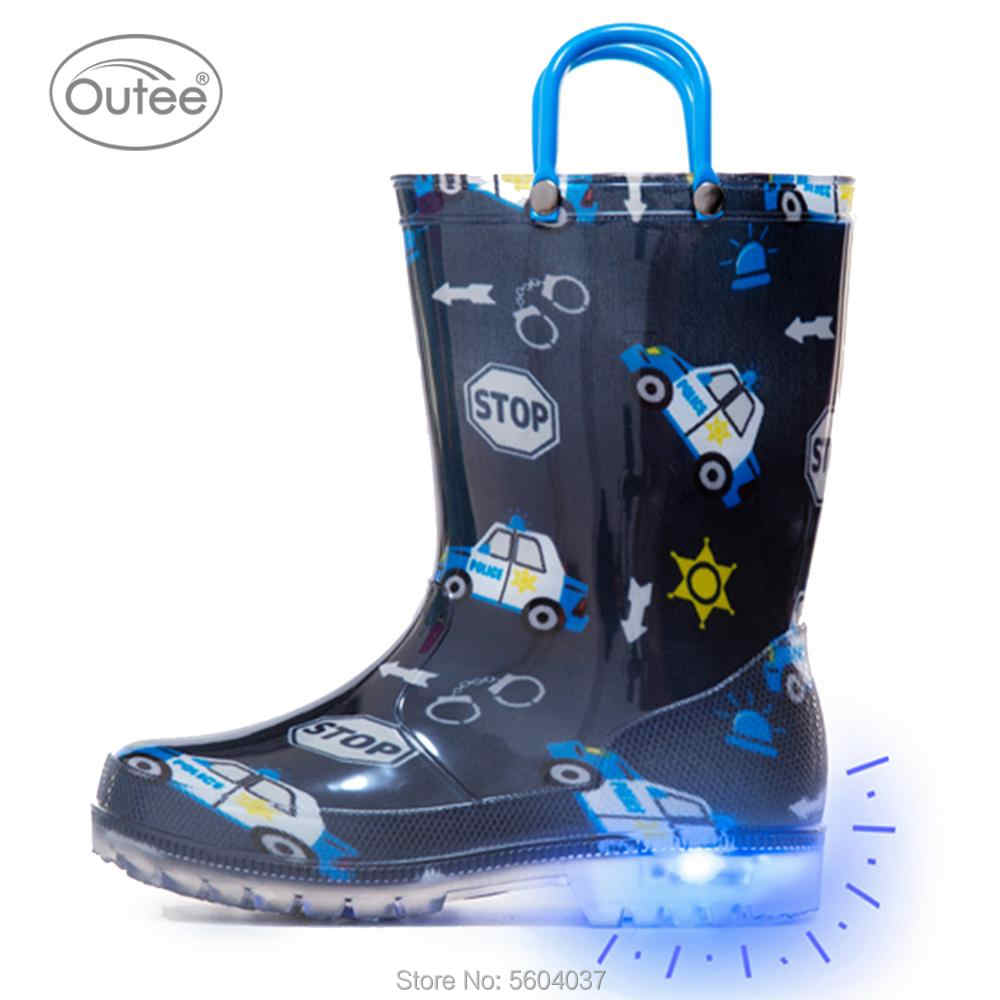 ZOOGS Childrens Light Up Rain Boots for