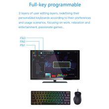 RGB LED Backlit Wired Mechanical Keyboard,Portable Compact Waterproof Mini Gaming Keyboard 61 Keys Gateron Switches for PC Mac цена и фото