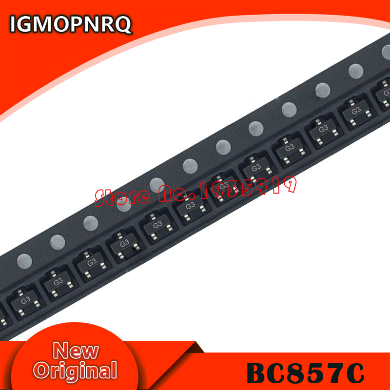 100PCS BC857C SMD 3G BC857 SOT-23 New And Original In Stock