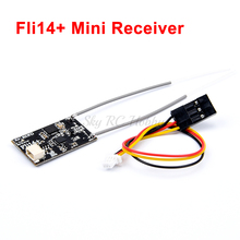 Fli14+ 14CH Mini Receiver Compatible Flysky AFHDS-2A with RSSI Output for FS i6 i10 i6X Turnigy I6S RC Racing Drone