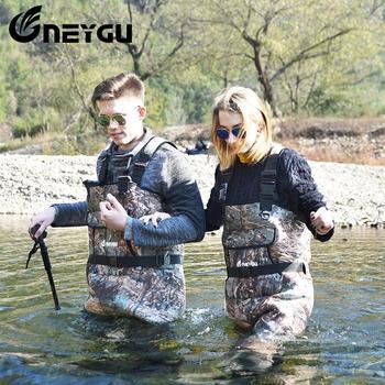 Neygu 5 Mm Neopreen Vissen Borst Waadvogel Bevestigd Rubber Laarzen Geïsoleerde Neopreen Thermische Beloven U Ijsvissen Warm In Water