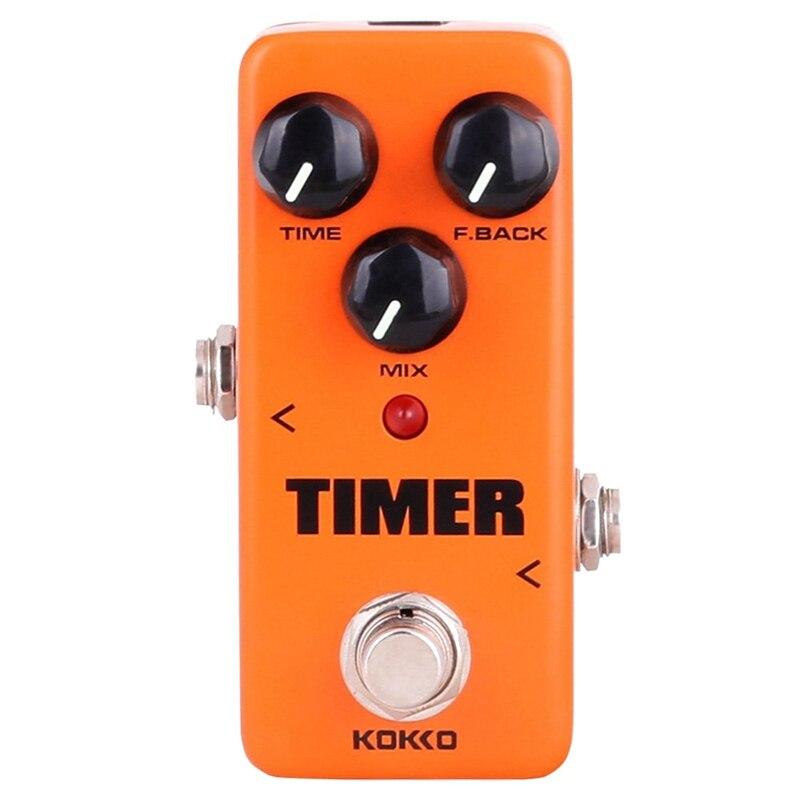 KOKKO guitare Mini effets pédale minuterie-numérique retard effet son processeur Portable accessoire pour guitare et basse, exclure Pow