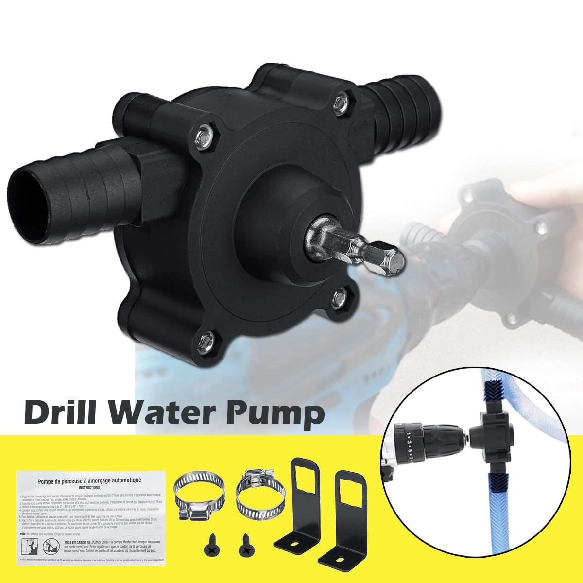 Portable Hand Electric Drill Driver Pump Miniature Self-priming Pump Transfer Pumps Oil Fluid Screwdrive Water Pump High Flow