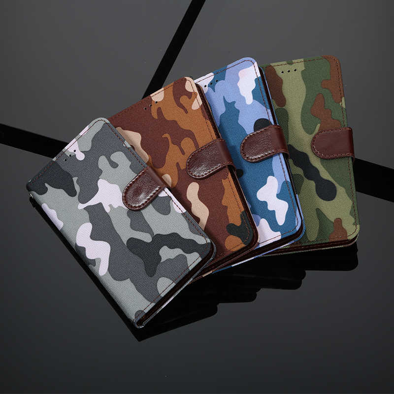 Army Camouflage For Huawei Y6 2019 Case Flip Wallet Leather Phone Case On For Huawei Y6 2019 MRD-LX1 MRD-LX1F Y6Prime Cover