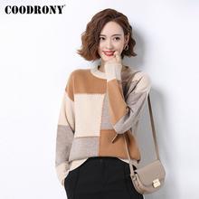 Coodrony бренд 2020 новый зимний лоскутный пуловер тонкий свитер