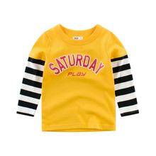 Boys T-Shirts Long Sleeve  Autumn Baby Girls Toddler  Kids Cotton Children Spring Clothing Clothes Tee for 2 3 4 5 6 7 8 Years boys t shirts for clothes autumn turndown collar pullover children long sleeve spring school uniform t shirt 4 6 8 10 12 years