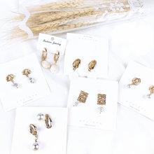 Conch Shell Metal 2019 Women Earrings Summer Fashion Drop For Girl Pearl Wedding Party Jewelry