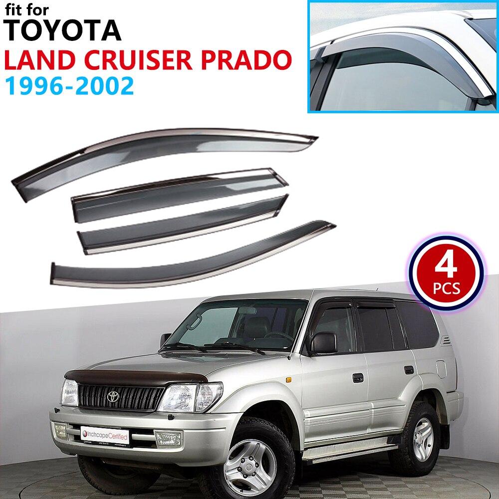 For Toyota Land Cruiser Prado Merú 90 J90 1996-2002 Window Visor Vent Awnings Rain Guard Deflector Shelters Car Accessories 1997
