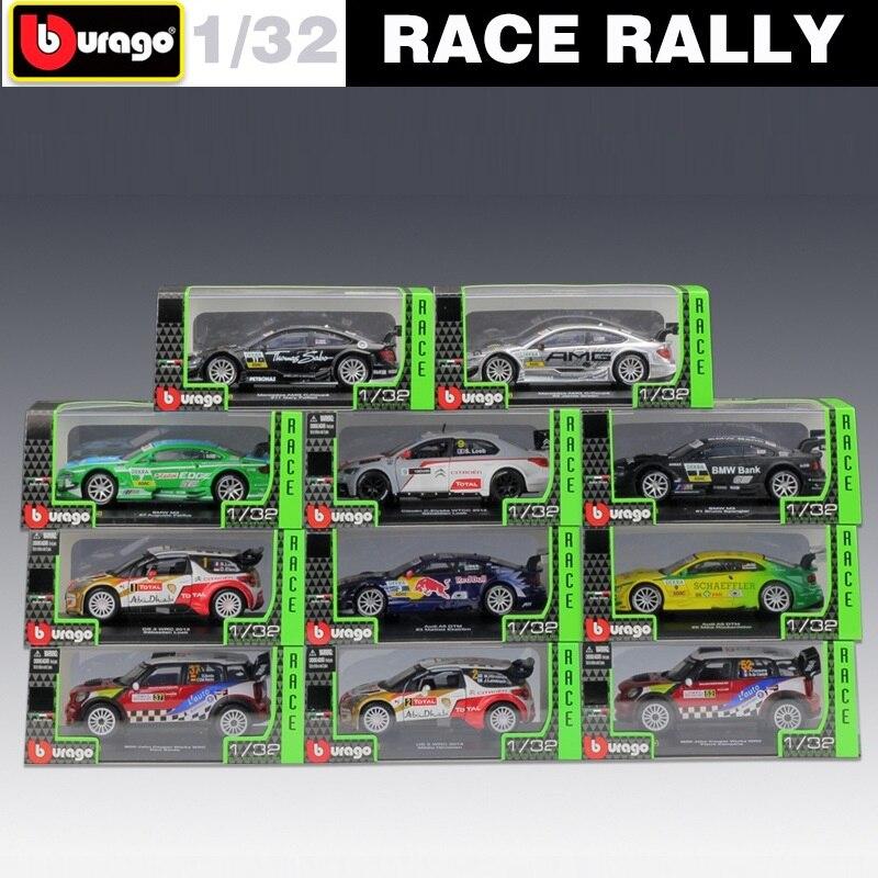 1:32 Bburago Benz AMG Audi DTM Citroen DS WRC Rally Racing Die Cast Model Car