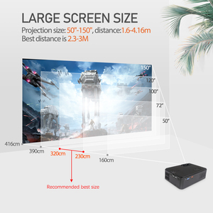Image 5 - Rigal Mini Projector RD813 1280x 720PLED WiFi Multi Screen Projector 3D Beamer Support HD 1080P Portable Home TV Theater Cinema