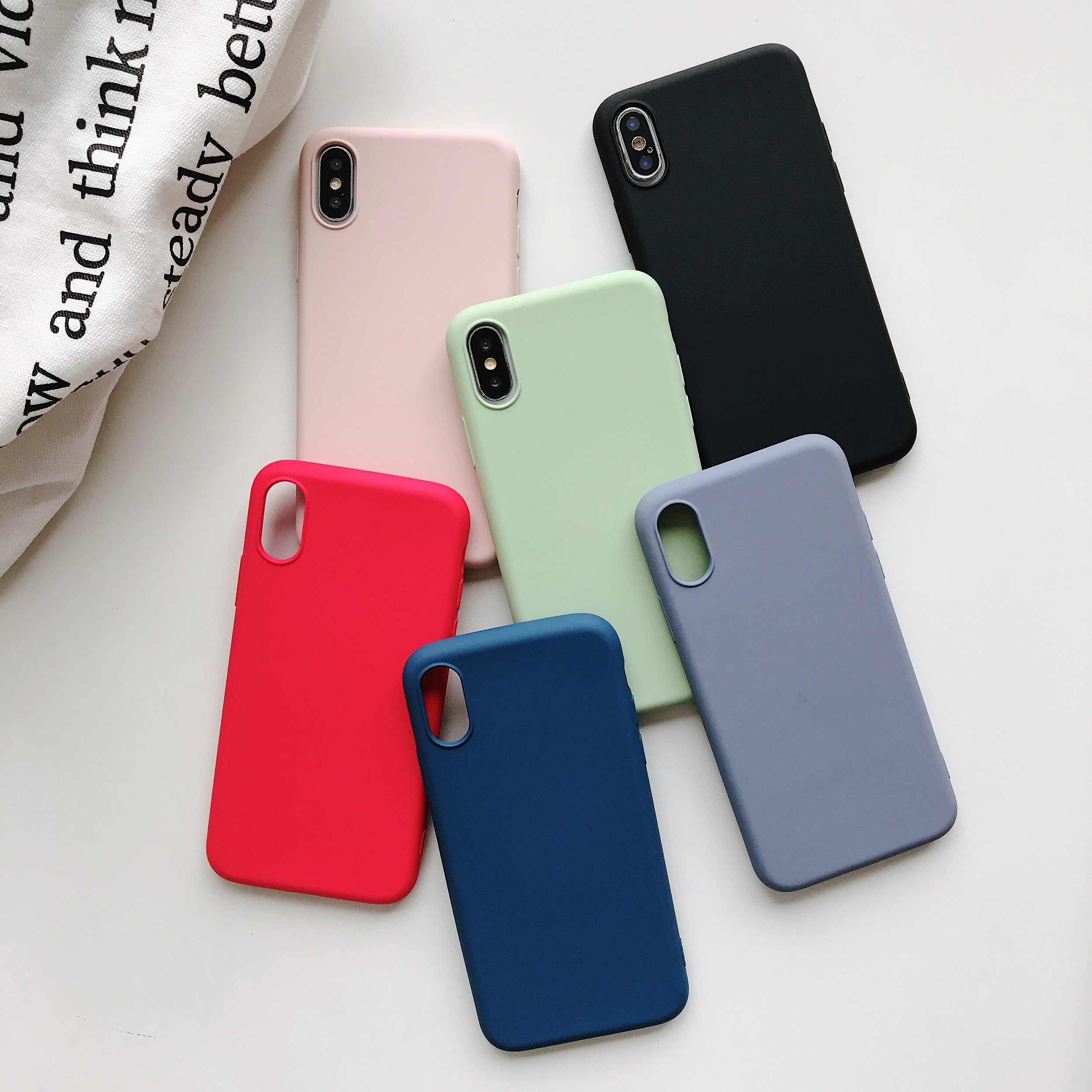 Ultra Thin Ultra Light Plain Silicone Phone Case For Oppo A3 A3S A5 A7 A7X A9 A9X F9 Pro F11 Realme X 3 Soft TPU Cover Shell