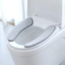 38x11 см крышка унитаза грелка памяти сиденье для унитаза Подушка пены моющееся сиденье для унитаза коврик-грелка Pad