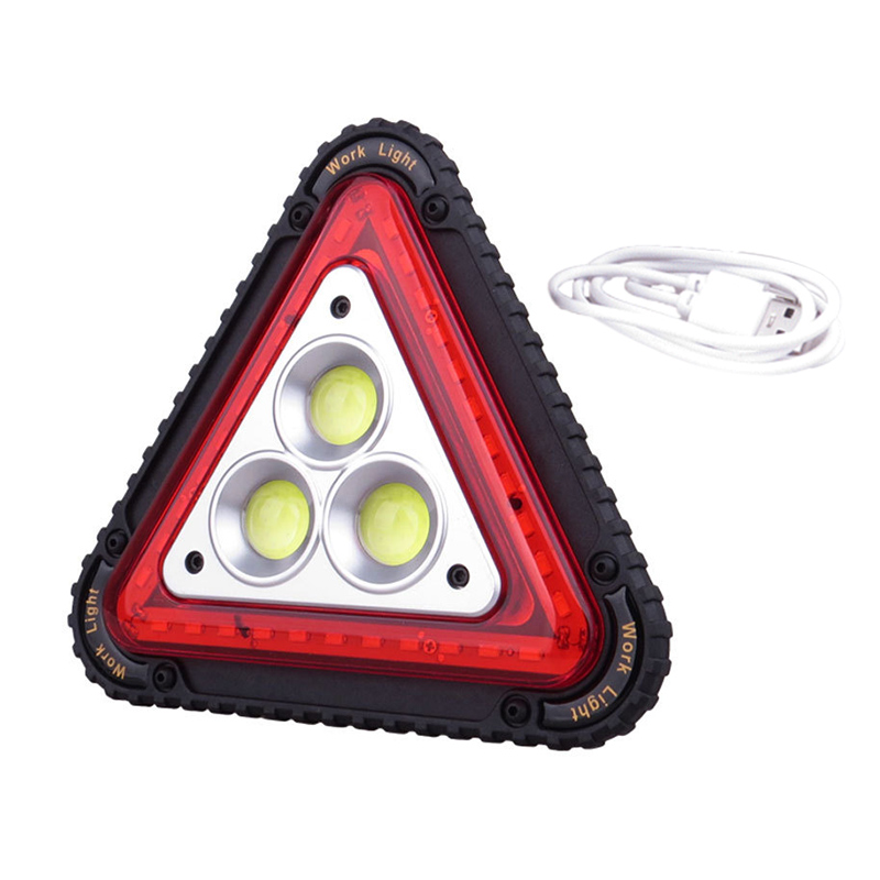 LED Working Lamp Portable Waterproof Triangular Warning Light For Camping Hiking Emergency