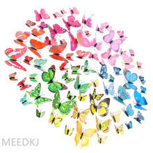 12pcs color 3d stereo simulation butterfly TV background wall decoration butterfly simulation butterfly