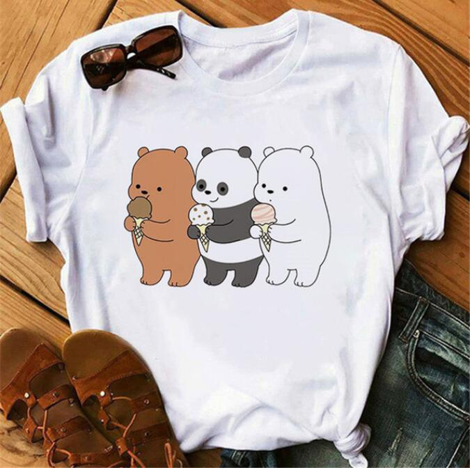 Cute Bears <font><b>Funny</b></font> <font><b>t</b></font> <font><b>shirts</b></font> <font><b>Women</b></font> Clothes Animal Printed <font><b>t</b></font>-<font><b>shirt</b></font> image