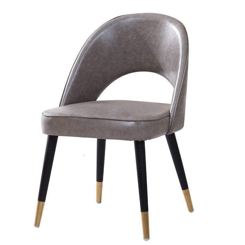 Light Luxury Cloth Art Chair Concise Modern Dining Chair Chair Household Restaurant Originality Chair Chair Leisure Time Chair