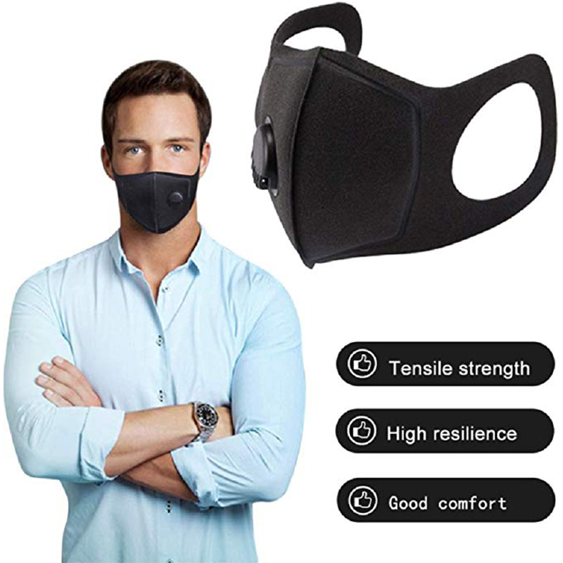 Anti Dust Mask PM2.5 Activated Carbon Filter Face Mouth Masks Reusable Mouth Cover Anti Fog Haze Respirator Black