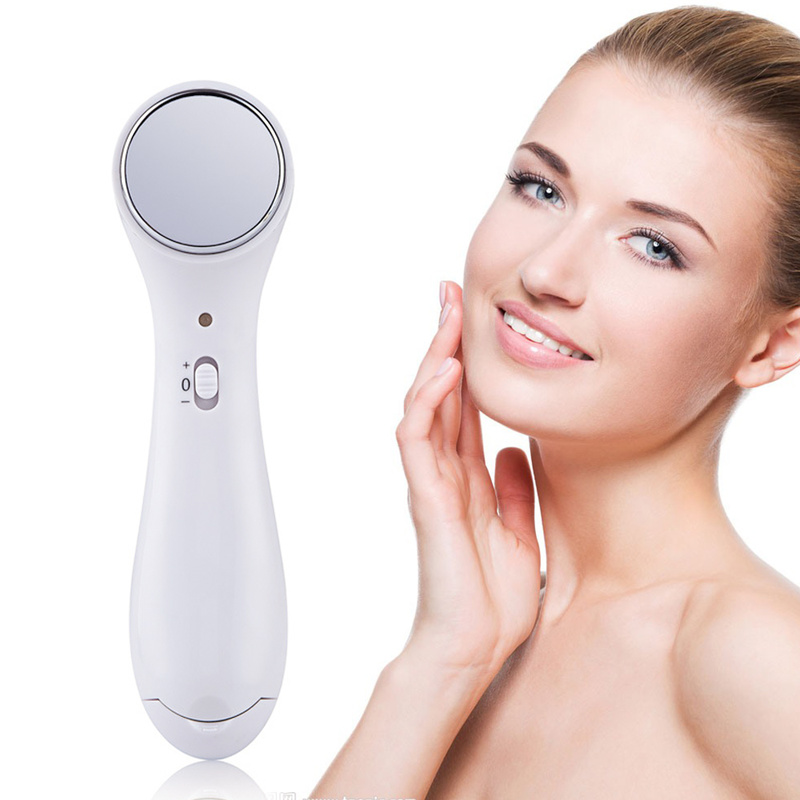 Electric Mini Sonic Facial Massage Vibrating Device Face Cleaner Beauty Machine Ion Wrinkle Removal Female Skin Care Massager