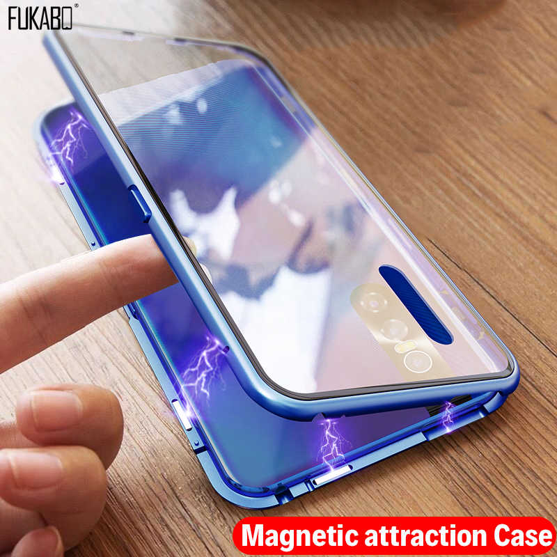 Magnetic Adsorption Shockproof Case For Samsung Galaxy A50 A70 A40 A20 A10 A30 A7 2018 S8 S9 S10e Note 10 9 8 Plus Back Cover