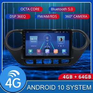 4G LTE Android 10.1 For HYUNDAI i10 2014 2015 2016 2017 Multimedia Stereo Car DVD Player Navigation GPS Radio