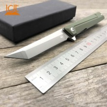LDT Zebra MS4 Folding Knife D2 Blade G10 Handle Bearing Military Tactical Camping Knives Pocket Outdoor Survival EDC Tool