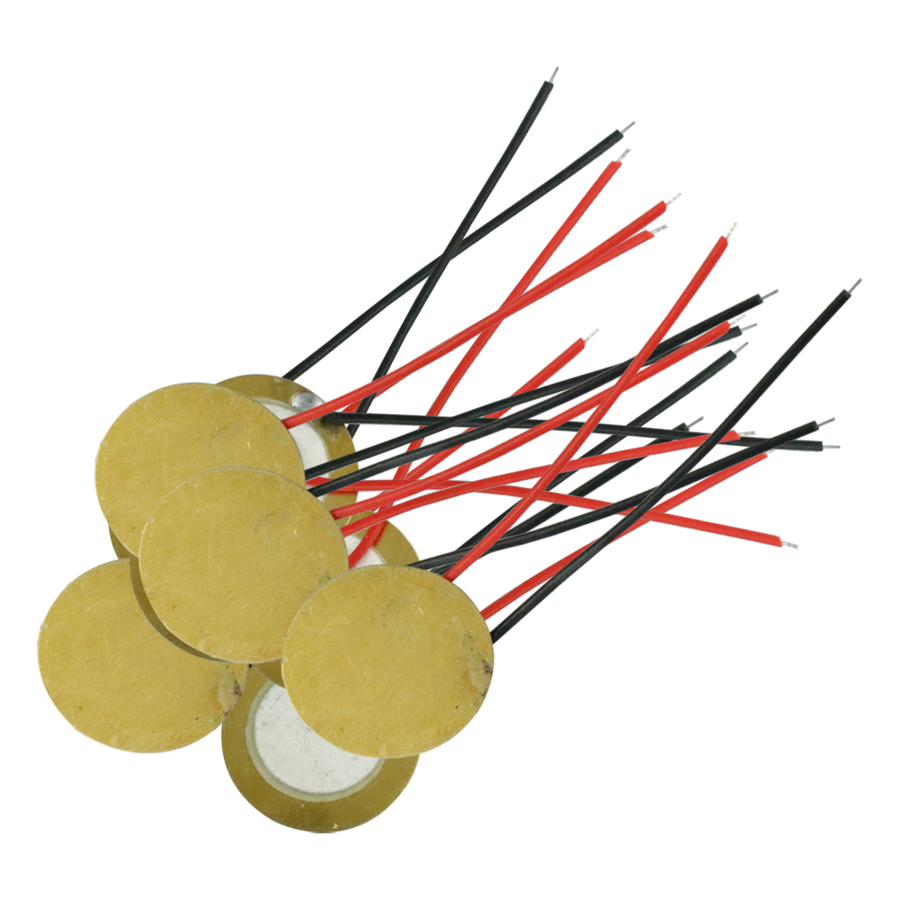 5pcs/lot 12mm ~ 27mm Piezo Elements Buzzer Sounder Sensor Trigger Drum Disc With Wire Copper Piezo Buzzers For Arduino