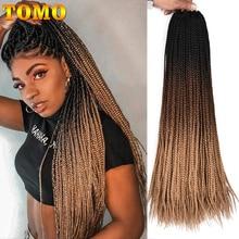 """TOMO коробка косички вязанные волосы для наращивания 2"""" омбре крючком косички 22 корня синтетические цветные косички волосы для наращивания розовый зеленый"""