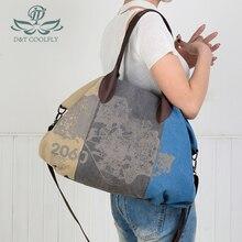 D&T 2020 New Fashion Shoulder Bag Women Color Block Waterpro