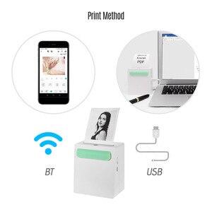 Image 5 - Mini bolso sem fio bt impressora portátil mini clipe de câmera design etiqueta memo adesivo ar photo printer para android ios smartphone