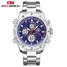 Top Brand KAT-WACH Luxury Digital Analog Watch Mens Sport Du