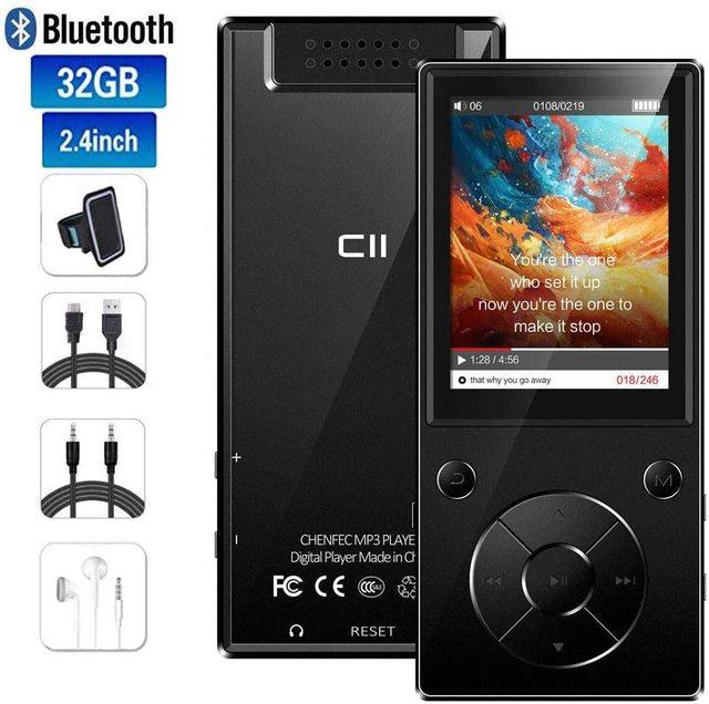Bluetooth4.2 MP3 מוסיקה נגן מובנה רמקול עם 2.4 אינץ TFT מסך Lossless קול נגן, תומך SD כרטיס עד 128GB