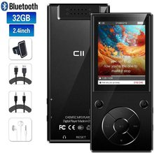 مشغل موسيقى MP3 Bluetooth4.2 مكبر صوت مدمج مع شاشة TFT 2.4 بوصة مشغل صوت بدون فقدان ، يدعم بطاقة SD حتى 128 جيجا بايت