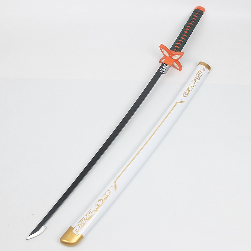 Devil's Blade Wooden Sword Weapon Demon Slayer Cosplay Kochou Shinobu Samurai Sword Katana Ninja Knife Espada Prop Toy For Teen