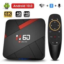 Boîtier Smart TV Android 10, 4 go 32 go 64 go, vidéo 6K, H.265, lecteur multimédia 3D, décodeur connecté avec Wifi et Bluetooth, 2.4G 5GHz