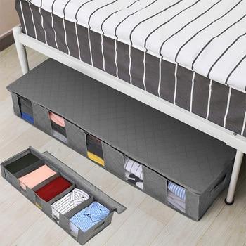 NonWoven Under Bed Storage Bag Quilt Blanket Clothes Storage Bin Box Divider Folding Closet Organizer Clothing Container Large 1