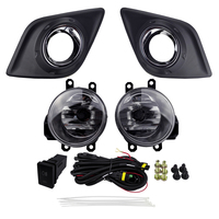For TOYOTA HILUX VIGO 2015 Fog Lamp Assembly ABS Plastic Metal 4300K Yellow Color 12V 55W Halogen Lights with Plating Covers