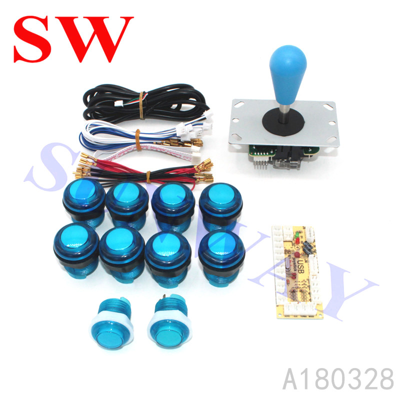 Hot Sale DIY Arcade KIT 1 Player Zero Delay  USB to PC Sanwa style Joystick Arcade Game Machine Parts for Jamma Fighting Games