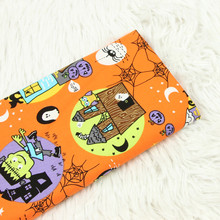 Halloween Style Cartoon Printed Cotton Plain Fabric For DIY Sewing Patchwork Pure Breathable Material