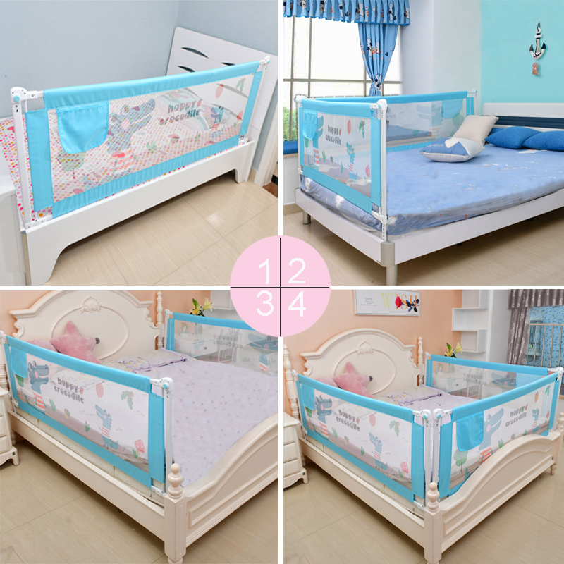 Baby Bed Safety Gate with Rails to Protect the Child from Falling Down the Bed while Sleeping or Playing 3
