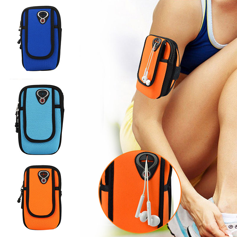 Arm Package Arm Band Wrist Wrap Nylon 3color Portable Pockets Run Riding Fishing Sport Movement Mountaineering Packet