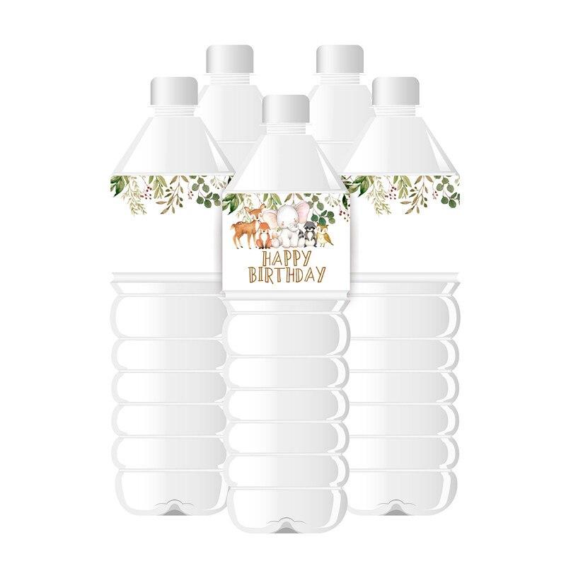 Лесных животных бутылка с водой обозначает лесной бутылка для воды обертки для День рождения украшения поставки лесной Декор для вечеринок