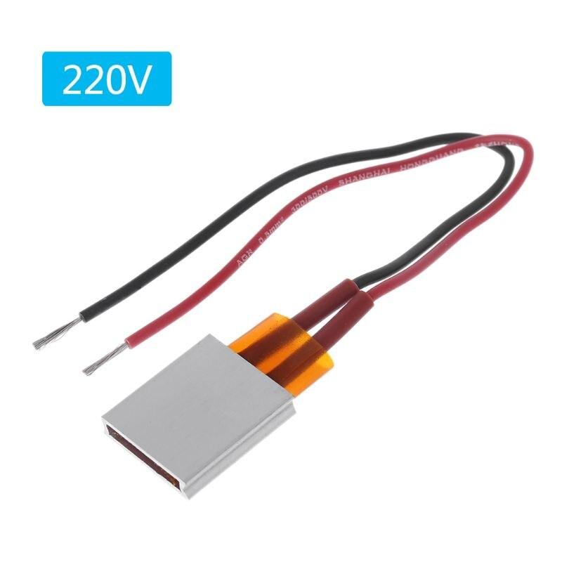220v cerâmica ptc aquecedor elétrico aquecimento folha temperatura constante placa de calor 60/80/100/120/150/180/200/230/270 graus