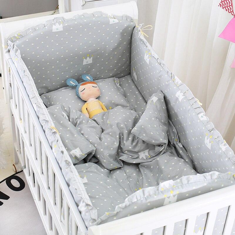 Weichuang Protector de Cuna 6 Pcs Suave Cojines para Cama de Beb/é Chichonera Mullida avec Dibujos Animados de Cuna Ropa de Cuna Parachoques para Cama de Beb/é #1