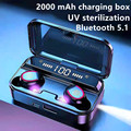 Беспроводные наушники TWS 5,1 Bluetooth наушники с шумоподавлением 9D Музыка наушники с движением мини фонарик 2000 мАч зарядный чехол