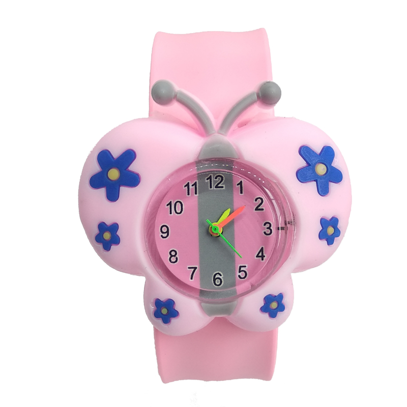 2019 New Good Quality Butterfly Watch Children Boys Girls Students Clock Silicone Tape Patted Child Watches Kids Christmas Gift