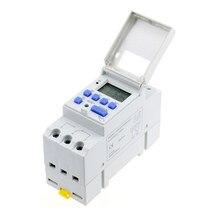 Interruptor de horário industrial digital, eletrônico, programável, semanalmente, 7 dias, controle de temporizador de retransmissão, AC 220V 16A barulho, monte ferroviário