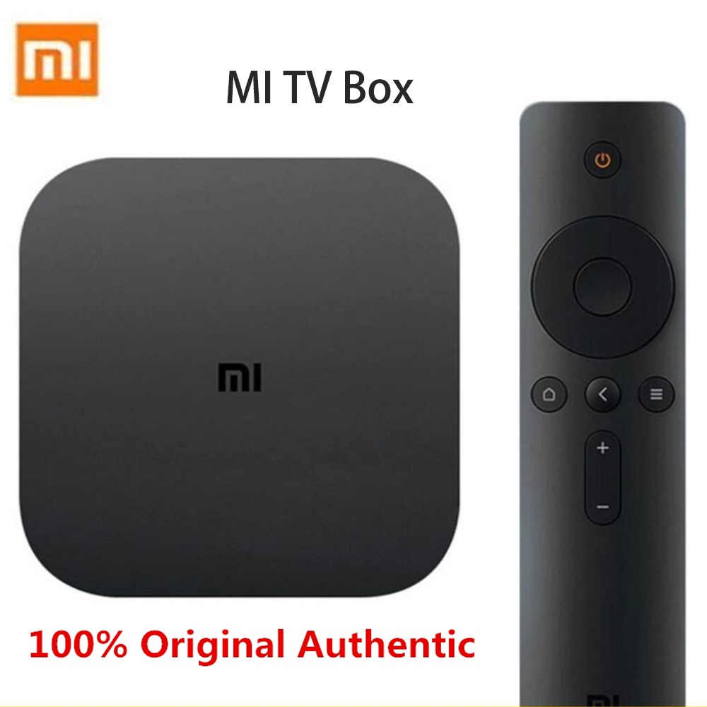 Original xiaomi mi tv box conjunto branco preto 4c 4 k tv Cortex-A53 quad core 64bit 1g + 8g DTS-HD 2.4g wifi usb 2,0 conjunto-topo chinês ver
