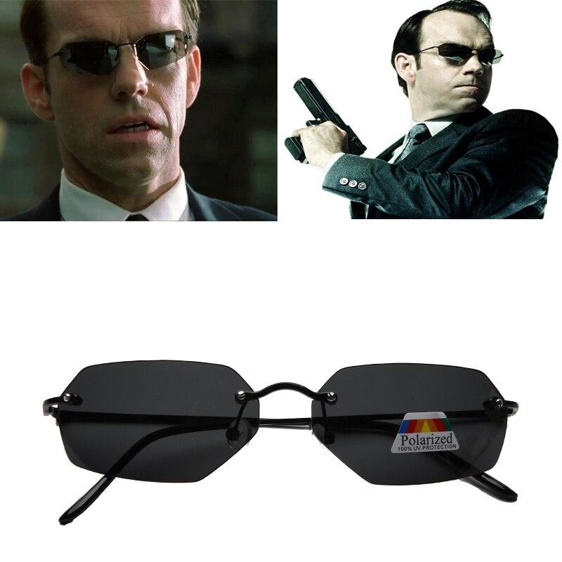Мужские солнцезащитные очки, ультралегкие поляризационные очки в стиле Neo с матрицей, без оправы, брендовые дизайнерские очки для вождения, ...