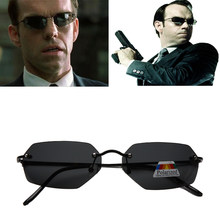 Óculos de sol da moda 2020, óculos de sol com lentes polarizadas, ultraleve, sem aro, estilo neo matrix, para homens